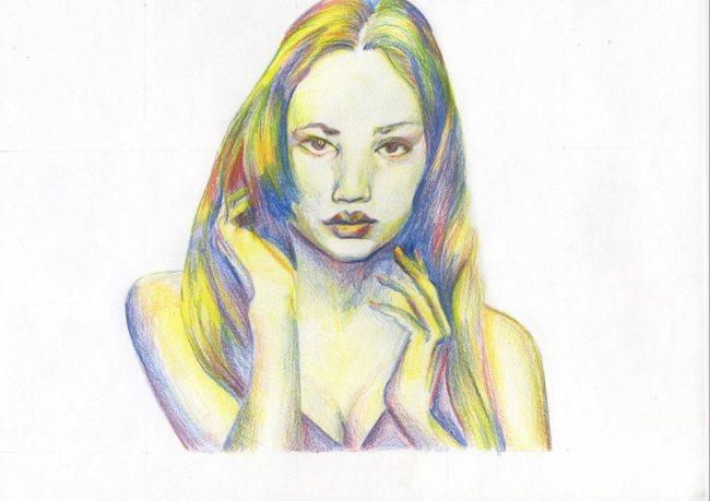 (c) Deborah Tun, 2013 . coloured pencil . based on a photo by Steve Taylor, Cambridge 2013
