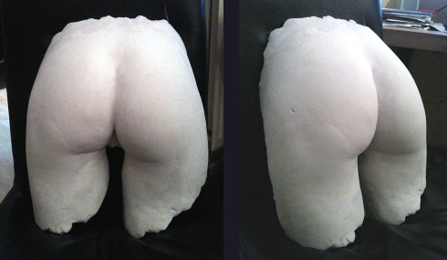 plaster cast bottom by Anna Tun | February 2014