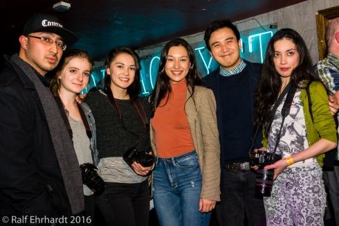 My camera crew: (from left to right) Jonny Tanna, Jocelyn Rigby, Deborah Tun, Elena Tun, Tam de la Cruz, Rebecca Tun . Courtesy of Ralf Ehrhardt
