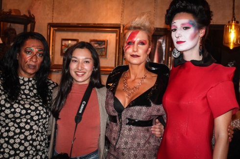Mary Martin (left), Elena Tun (centre left) . Courtesy of Jocelyn Rigby
